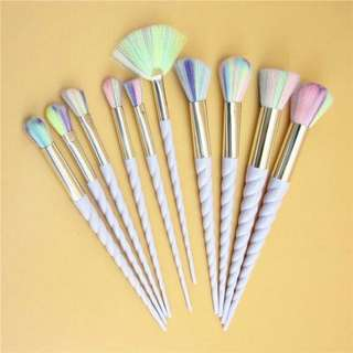 10pcs Mermaid Brush Set
