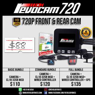 RevoCam 720p Wide Angle Motorcycle Camera