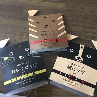 🚚 日本進口天然貓咪🐈零食,三入一組