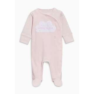 Pink Born In 2018 Sleepsuit