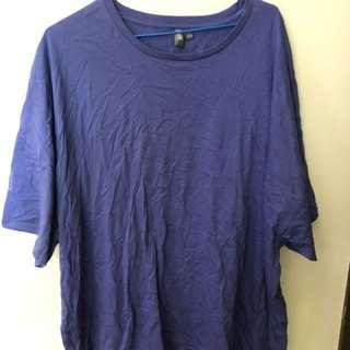 vintage men's t-shirt california purple size XXL