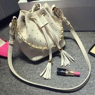Studded Bucket Bag PU