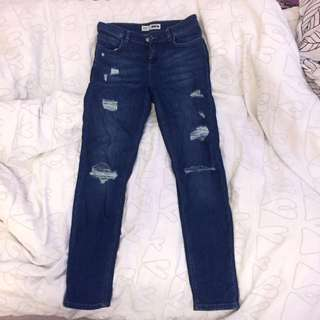 Topshop petite ripped jeans size 26