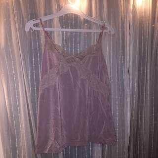 H&M Pink Silk Camisole