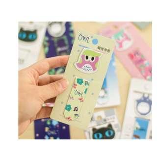Bookmark Pembatas buku magnet karakter kartun lucu - KSY078