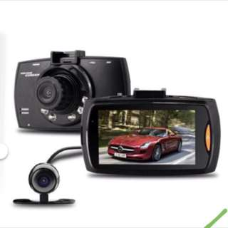 "DUAL Dash camera Car HD Crash Cam G-sensor Night Vision 170Degrees 1080P 2.7"" LCD DVR  Front & Back Camera Rear Camera"