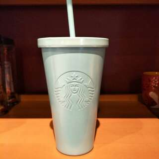 Starbucks Tumbler cold cup 16oz ss icy blue