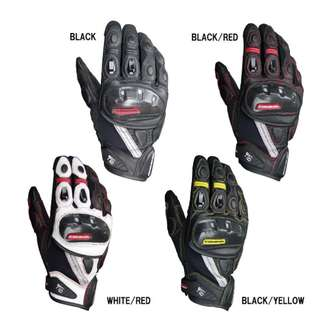 Authentic Komine GK160 GK-160 waterproof racing touring leather gloves