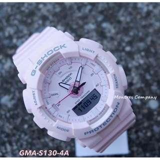 Montres Company香港註冊公司(25年老店) CASIO g-shock GMA-S130 GMA-S130-4 GMA-S130-4A 四隻色都有現貨 GMAS130 GMAS1304