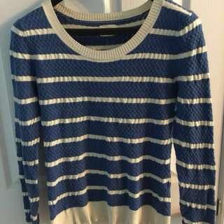 Levis women's medium blue & white stripe top