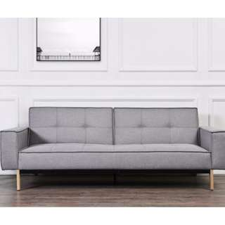 Multi functional 3 seater fabric sofa bed