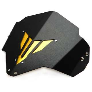 Yamaha MT03 MT25 FZ03 gold blue black red titanium metal windshield windscreen screen shield wind