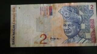 Rm 2 malaysian with Aishah signature