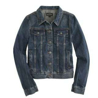 XS J Crew Vintage Denim Jacket
