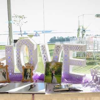 For rent - LOVE marquee with white LED light