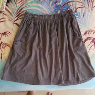 colorbox studded gray skirt