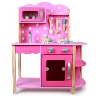 (PO) BN Pink Wooden Kitchen Play Set