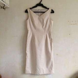 Nude office dress