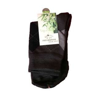 Unisex Business Casual Bamboo Fiber Crew Sock Black (1 Pair)