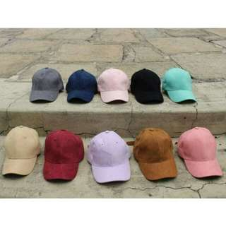 SUEDE CAP: BUY 2 FOR 300 ONLY!!
