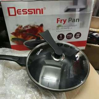 Fry Pan Panci Dessini High Quality Size 30 Cm Wajan Masak Anti Lengket