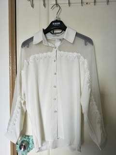 雪紡透膚襯衫,白色性感#可換物#舊愛換新歡