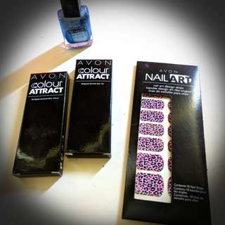 Avon Nail Art Kit - awesome metallic pattern effect