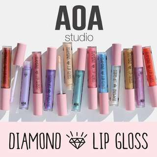 🆕 Diamond Lip Gloss Complete List Vegan US Cruelty-free Cosmetic Makeup AOA Studio Lipstick