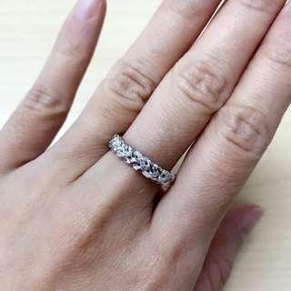 18K白金鑽石戒指💍
