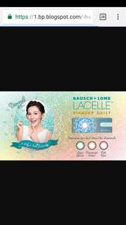 Bausch and Lomb Lacelle diamond daily colour contact lens