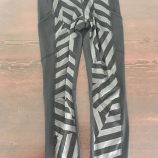Lululemon full length tights size 2- xs/s striped