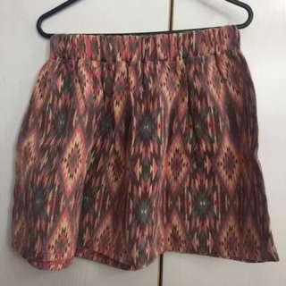 Aztec Print Skirt (Light)