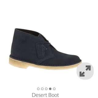 Clarks Desert Boot (Dark Blue Seude)