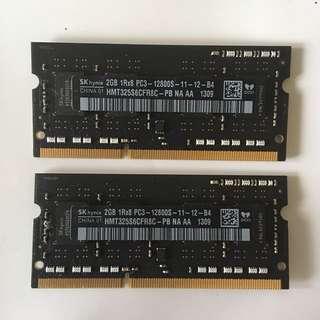 2x2GB SODIMM RAM