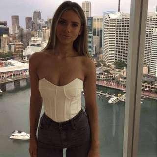 Bardot White Bodysuit