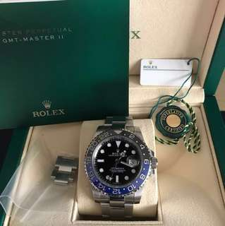 Rolex GMT Master 2 'Batman'