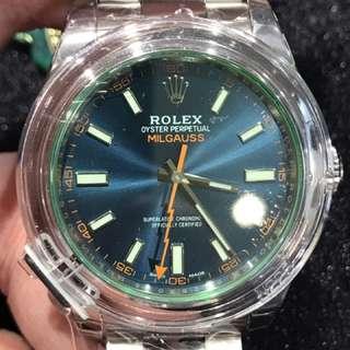 全新Rolex 綠玻璃