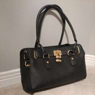 Black Leather Look Bag