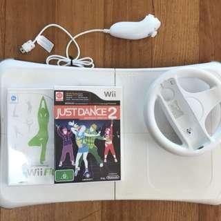 Wii Fit board + accessories