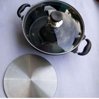 Baking Pan 28cm Cetakan Kue Bolu Tanpa Oven Praktis Di Atas Kompor