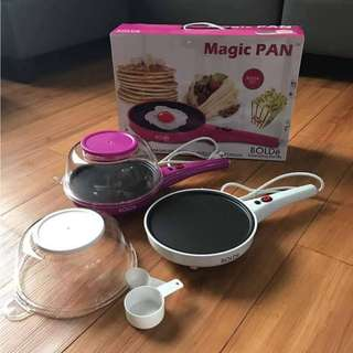 Magic Pan Bolde 10 in 1 Alat Masak Crepe Dadar Telur Popcorn Praktis