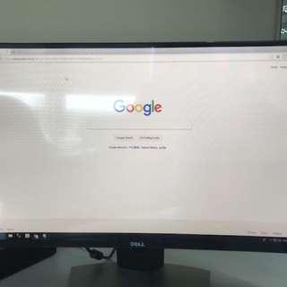 """Dell monitor 27 """" Curve SE2716H"""