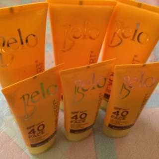Take all Belo face 40 spf and body 60 spf sunblock
