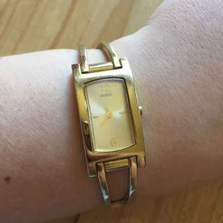 Guess gold watch with brand new battery