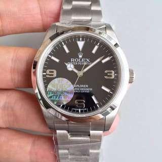 腕錶吧 見面交收 JF 頂級版 Rolex 勞力士 Explorer I 214270-77200 黑盤 39mm