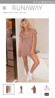 RHIANNON T-SHIRT DRESS - HAZEL