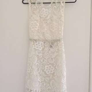 KUKU White Lace Dress
