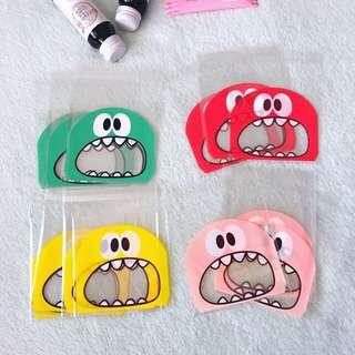 50pcs x 10*10cm+3cm Monster Self Adhesive Cookies Bag