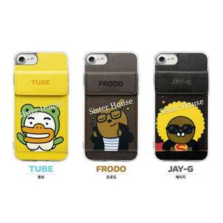 (包郵)🇰🇷Kakao Friends Tube Frodo Jay G Pocket Phone Case 手機殼