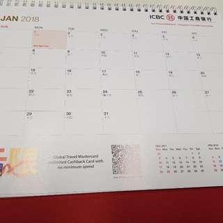 2018 Desktop Calendar / Planner